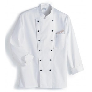 Chef´s jacket, white, Long sleeve, stand-up collar