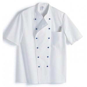 Chef´s jacket, 1/2 sleeve, white 1/2 sleeve, stand-up collar