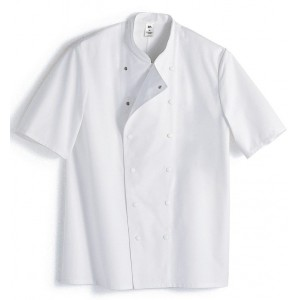 Chef´s jacket, 1/2 sleeve, stand-up collar
