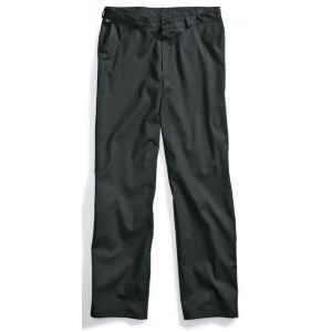 Men's trousers black, 2 side pockets, 1 piped back pocket