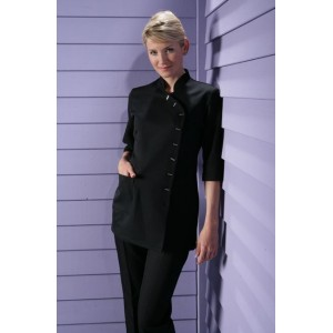 Beauty tunic, short sleeves, easy-care, black