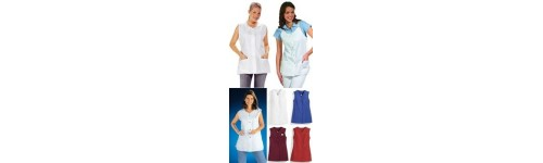 women's sleeveless scrubs and tunics